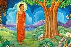 MV-Jayasiri-murals: Buddha's Gratitude
